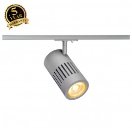 SLV 144114 STRUCTEC LED 24W, round,silver, 3000K, 60°, incl.1-phase adapter