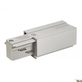 SLV 145514 EUTRAC feed-in, earth left,silver-grey