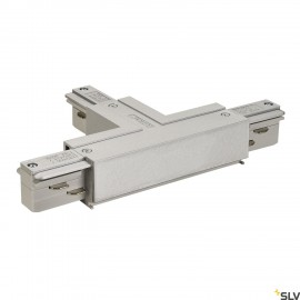 SLV 145634 EUTRAC T-connector earth left, silver-grey