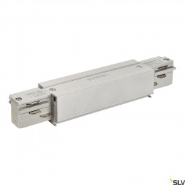 SLV 145664 EUTRAC longitudinal connector,with feed-in capability,silver-grey