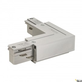 SLV 145674 EUTRAC L-connector, outerearth, silver-grey