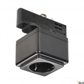 SLV EUTRAC power socket adapter, black