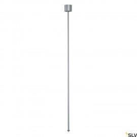 SLV 145714 EUTRAC pendant suspension for3-circuit track, silver-grey,120cm