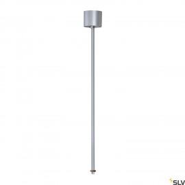 SLV 145724 EUTRAC pendant suspension for3-circuit track, silver-grey,60cm