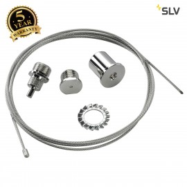 SLV 145800 EUTRAC rope suspension, chrome, 1.5m