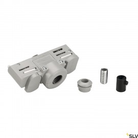 SLV 145994 EUTRAC 3-circuit track adapter, silver-grey, incl. mountingaccessory