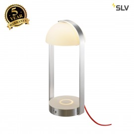 SLV 146111 BRENDA, LED Tischleuchteweiss/ silberincl. Wireless Charging Qi standard