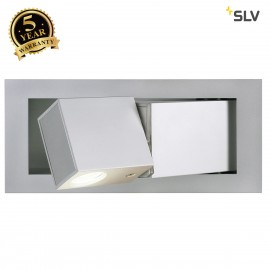 SLV 146242 BEDSIDE LEFT recessed walllight, silver-grey, 3W LED,3000K, blue orientation LED