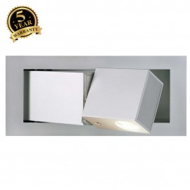 SLV 146250 BEDSIDE RIGHT recessed walllight, silver-grey, 3W LED,4000K, blue orientation LED