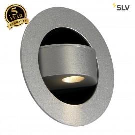 SLV 146382 GILA LED recessed wall light,silver-grey, 3W LED, 3000K,incl. blue orientation LED