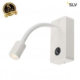 SLV 146701 PIPOFLEX wall light, mattwhite, 4W LED, 3000K