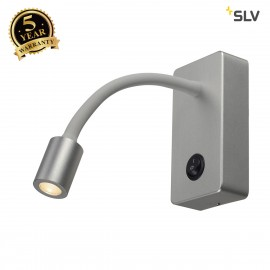 SLV 146704 PIPOFLEX wall light,silver-grey, 4W LED, 3000K