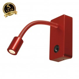 SLV 146706 PIPOFLEX wall light, red, 4WLED, 3000K