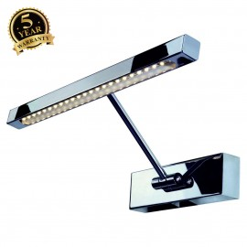 SLV 146722 LED PICTURE LIGHT STRIP,chrome, 2W, incl. LED stripwith 24 warm white LED