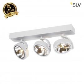 SLV 147271 KALU 3 wall and ceiling light,matt white, 3x QRB111, max.3x 50W