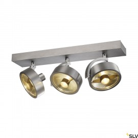 SLV 147326 KALU 3 QPAR ceiling light, alubrushed, 3x ES111, max. 3x75W