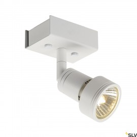 SLV 147361 PURI 1 ceiling light, mattwhite, GU10, max. 50W, incl.deco ring