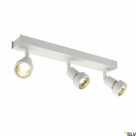 SLV 147381 PURI 3 ceiling light, mattwhite, 3x GU10, max. 3x 50W,incl. deco ring