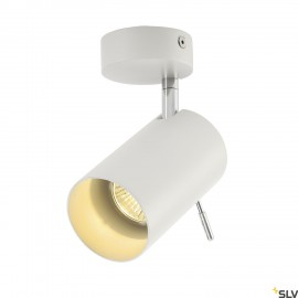 SLV 147411 ASTO TUBE I wall and ceilinglight, white, GU10, max. 75W