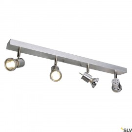 SLV 147444 ASTO IV wall and ceiling light, alu brushed, 4x GU10, max.4x 75W