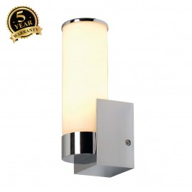 SLV 147532 CAMARA IP44 wall light, chrome, E14, max. 60W