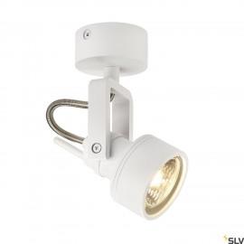SLV 147551 INDA SPOT GU10 wall andceiling light, matt white,max. 50W