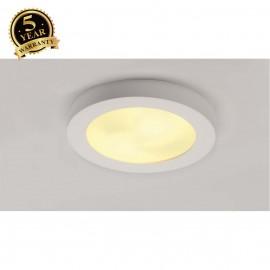 SLV 148001 Ceiling light, GL 105 E27,round, white plaster, max. 2x25W