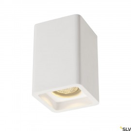 SLV 148004 PLASTRA ceiling light, CL-1,square, white plaster, GU10,max. 35W