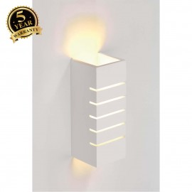 SLV 148010 Wall light, GL 100 SLOT,square, white plaster, E14,max. 40W