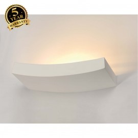 SLV 148012 Wall light, GL 102 CURVE,white plaster, R7s 78mm, max.100W