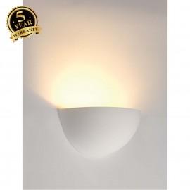 SLV 148013 Wall light, GL 101 E14,semicircular, white plaster,max. 40W