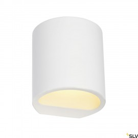 SLV 148016 PLASTRA wall light, GL 104ROUND, white plaster, G9, max.42W