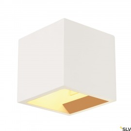 SLV 148018 PLASTRA CUBE wall light,square, white plaster, G9,max. 42W