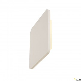 SLV 148019 PLASTRA SQUARE wall light,square, white plaster, 48 LED,3000K