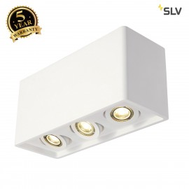 SLV 148053 PLASTRA BOX 3 ceiling light,square, white plaster, 3xGU10,max. 3x35W
