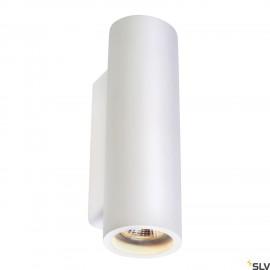 SLV 148060 PLASTRA WALL LIGHT, whiteplaster, round, 2x GU10, max.2x 35W