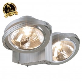 SLV 149142 TEC KARDA 2 wall and ceilinglight, silver-grey, 2xQRB111,max. 2x50W