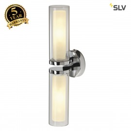 SLV 149492 Wall light, WL 106, chrome,double-glass, 2xE14, max.2x40W, IP44