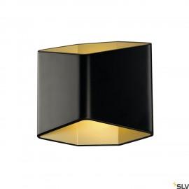SLV 151710 CARISO LED wall light 2,black/brass, 7.6W COB LED,3000K