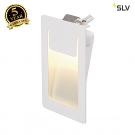 SLV 151951 DOWNUNDER PURE recessed,square, white, 3.6W LED, 3000K, 80x120mm