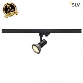 SLV 152200 E27 SPOT, black, max. 75W,incl. 3-circuit adapter