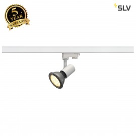 SLV E27 SPOT, white, max. 75W, incl. 3-circuit adapter 152201