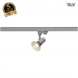 SLV E27 SPOT, silver-grey, max. 75W , incl. 3-circuit adapter 152204