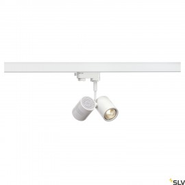 SLV BIMA II lamp head, matt white, 2x GU10, max. 2x 50W, incl. 3-circuit adapter 152231
