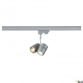 SLV 152232 BIMA II lamp head, silver-grey, 2x GU10, max. 2x 50W, incl.3-circuit adapter