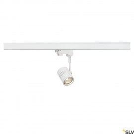 SLV BIMA I lamp head, matt white, GU10, max. 50W, incl. 3- circuit adapter 152241