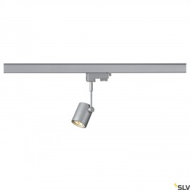SLV BIMA I lamp head, silver-grey, GU10, max. 50W, incl. 3- circuit adapter 152242