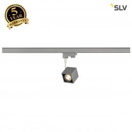 SLV ALTRA DICE SPOT, square, silver-grey/black, GU10, max. 50W, incl. 3-circuit adapter 152324