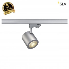 SLV 152424 ENOLA_C 9 SPOT, round,silver-grey, 9W, 3000K, 35°,incl. 3-circuit adapter