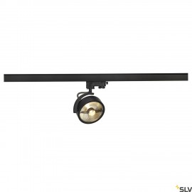 SLV KALU TRACK QPAR111 lamp head, black, incl. 3-circuit adapter 152610